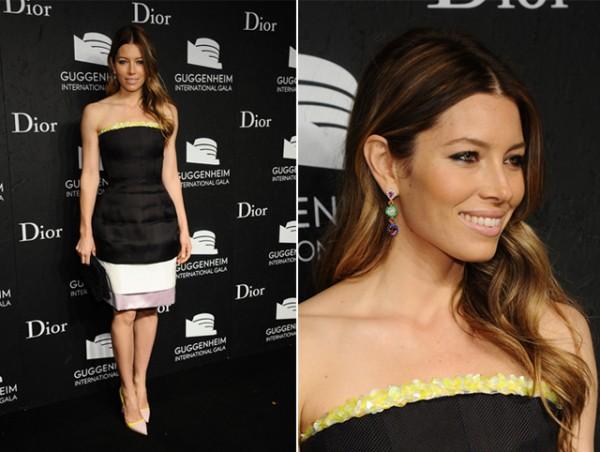 Jessica Biel is darling in Dior for Guggenheim International Gala
