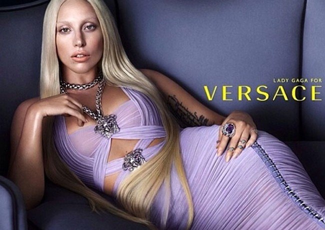 First Look: Lady Gaga for Versace