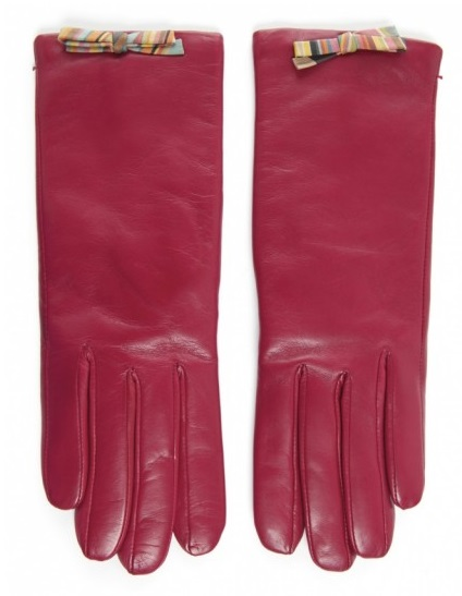 (Red leather gloves, by Paul Smith, available at Jules B)