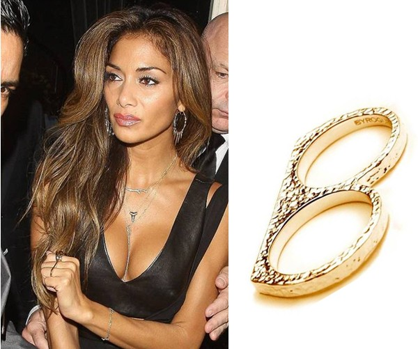 Channel Nicole Scherzinger with these ace knuckleduster rings