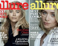 Mary-Kate and Ashley Olsen individually cover Allure's December issue