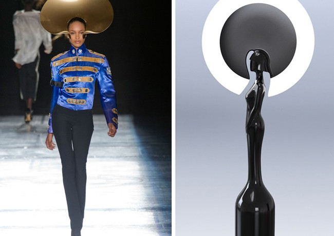 Philip Treacy designs next year's Brit Award!