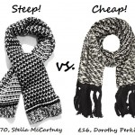 Steep vs. Cheap: Chunky knit scarf