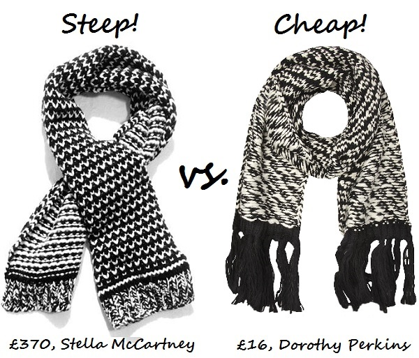 steep v cheap chunky scarf