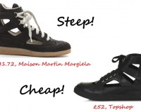 Steep vs. Cheap: Cut out sneakers