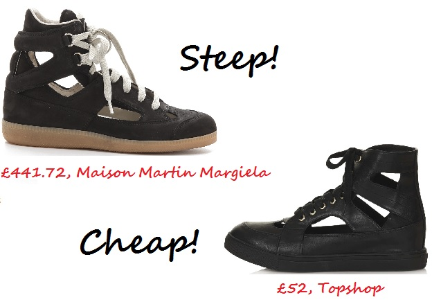 steep v cheap cut out sneaker