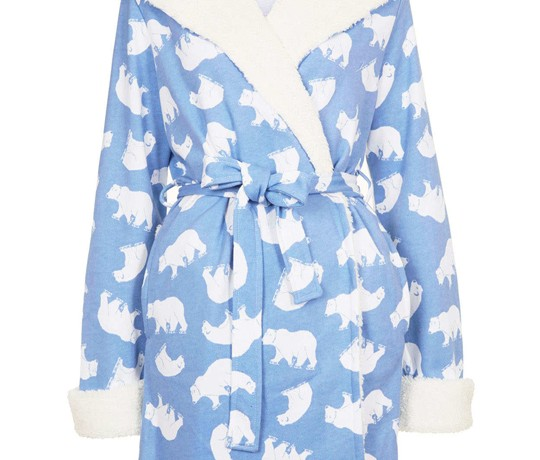Gift of the Day: Topshop light blue polar bear fleece robe