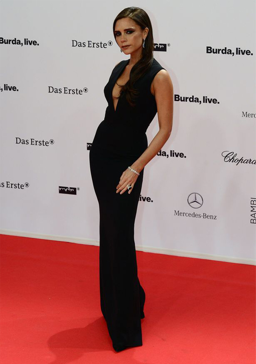 Victoria Beckham smoulders on Bambi Awards red carpet