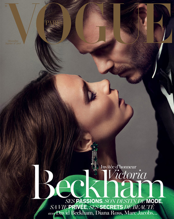 David and Victoria Beckham front Vogue Paris December issue