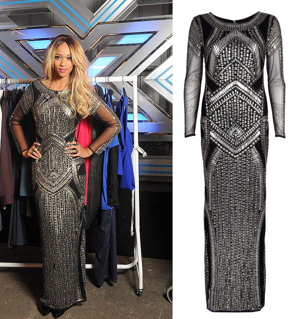 x-factor-tamera-foster-river-island-maxi-dress