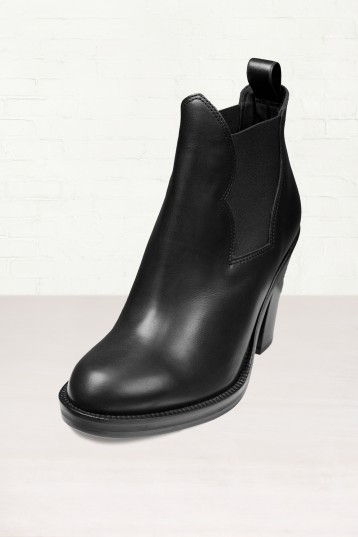 3. Acne Star Black Ankle Boots