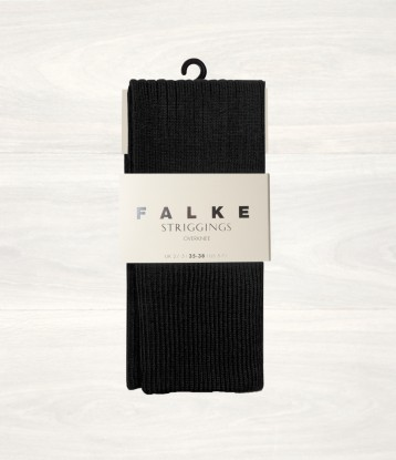 6. Falke Black Striggings Overknee Socks