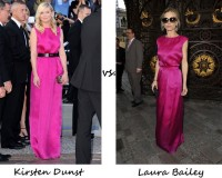 Kirsten Dunst vs. Laura Bailey…Who wore Christian Dior better?