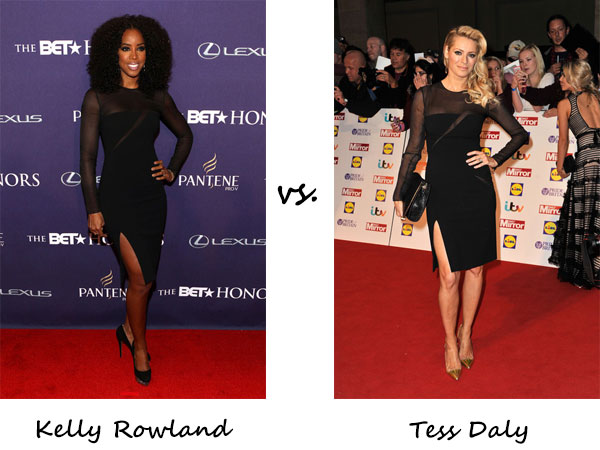 Kelly Rowland vs. Tess Daly…Who wore Emilio Pucci better?