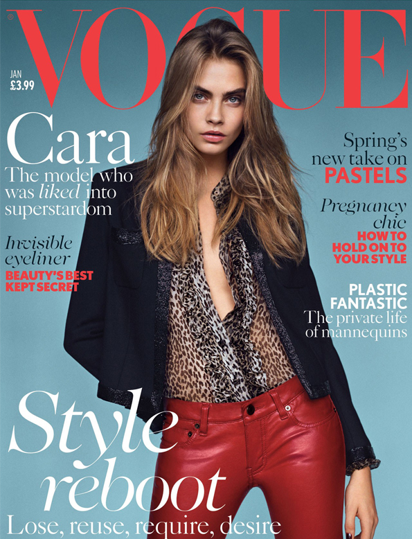 Cara Delevingne lands British Vogue January 2014 cover