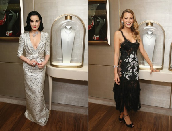 Dita von Teese and Blake Lively attend Van Cleef & Arpels New York Maison reopening