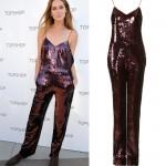 Get Erin Wasson's sequin Topshop jumpsuit