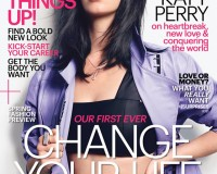 Katy Perry goes back to basics for Marie Claire US January