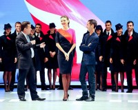 Qantas uniforms modelled by Miranda Kerr come under fire