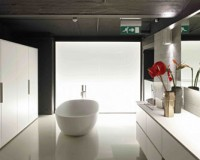 Stylish and elegant, open plan bedroom/bathroom arrangements look great in modern homes.