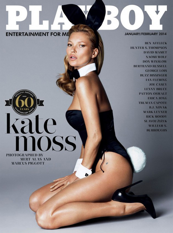 Kate Moss's Playboy cover (and some of the editorial) is here!