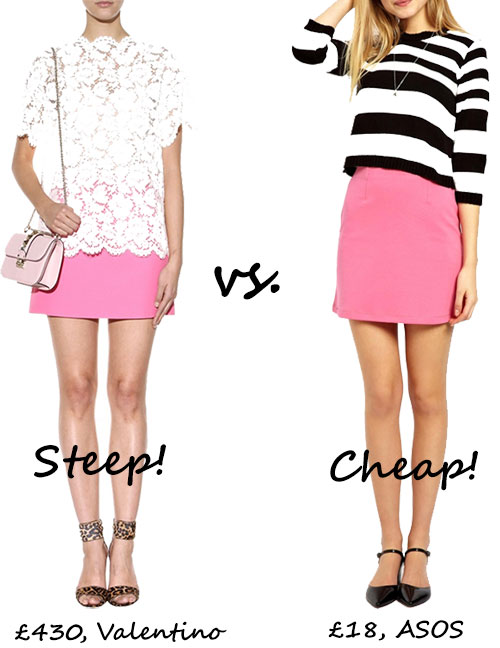 Steep vs. Cheap: Pink mini skirt