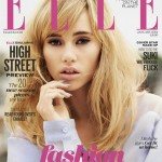 Suki Waterhouse covers Elle UK's January 2014 issue