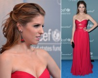 Anna Kendrick gets in on the red dress trend in Reem Acra Resort