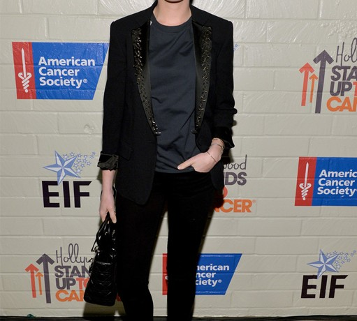 Anne Hathaway suits up in Viktor & Rolf