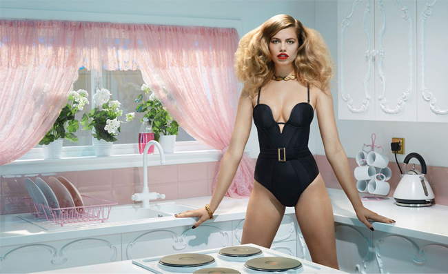 Household chores made glamorous in Agent Provocateur's SS14 ad campaign