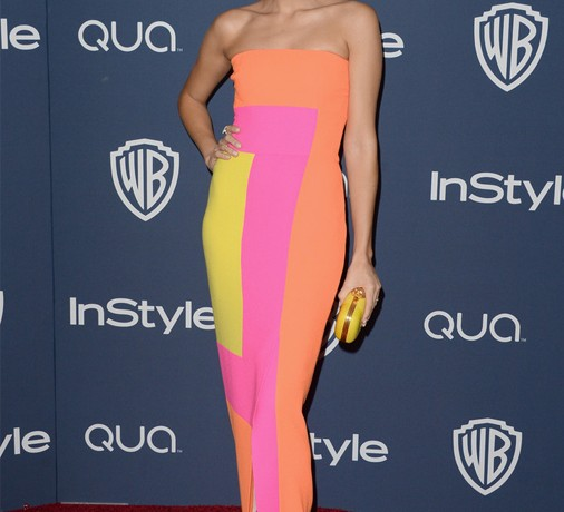 Ashley Madekwe is a colour block dream in Roksanda Ilincic