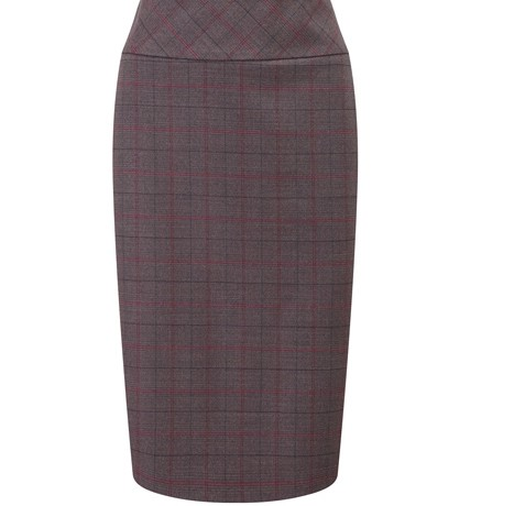 Lunchtime Buy: Austin Reed purple check wool skirt