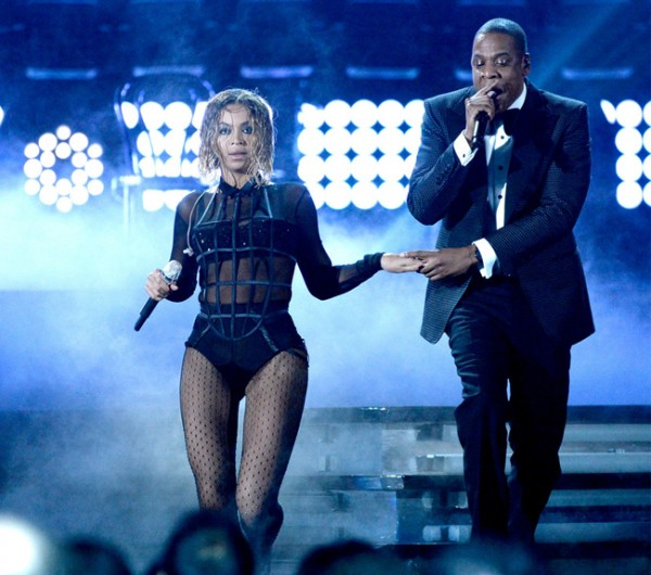 Beyonce rocks La Perla's cage vest at the Grammys