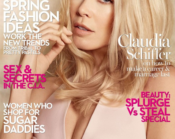 """Ageing is just a natural process""- Claudia Schiffer, Marie Claire UK, March"