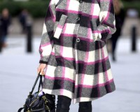 Fearne Cotton casually colour coordinates in London