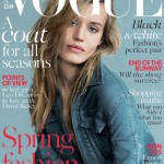 Georgia May Jagger looks relaxed in Balmain for British Vogue's February issue