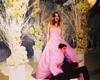 Kaley Cuoco ties the knot in pink Vera Wang