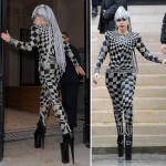 Lady Gaga rocks vintage Gianni Versace in Paris