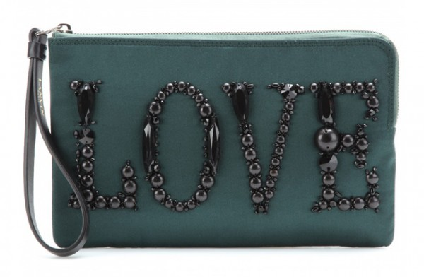 Lunchtime Buy: Lanvin Love beaded satin clutch