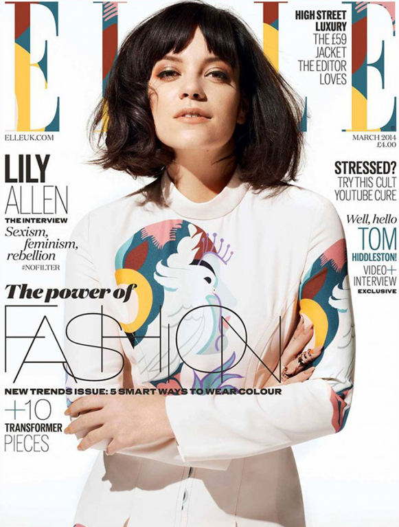 Lily Allen talks feminism, motherhood and Beyonce in Elle UK March