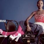 Lupita Nyong'o and Elizabeth Olsen for Miu Miu's SS14 ad campaign