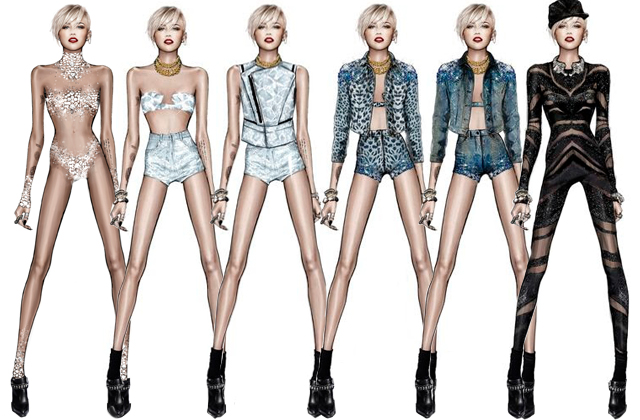 What's Roberto Cavalli got lined up for Miley Cyrus's tour wardrobe?
