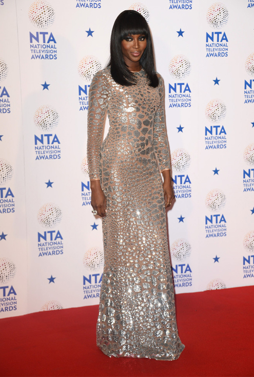 Naomi Campbell brings glitz and glamour to the National Television Awards