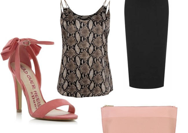 2 ways to wear the AX Paris chain snake print cami top