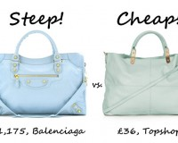 Steep vs. Cheap: Baby blue tote