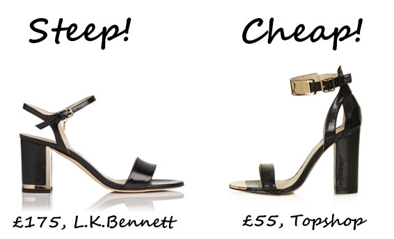 Steep vs. Cheap: Block heel sandals