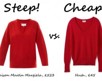 Steep vs. Cheap: Red Sweater