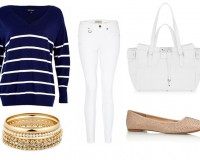 2 ways to wear Burberry Brit skinny white jeans