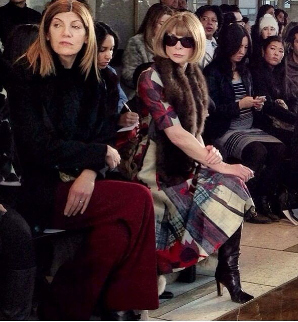 Instagram moment: Anna Wintour killing it in the frow!