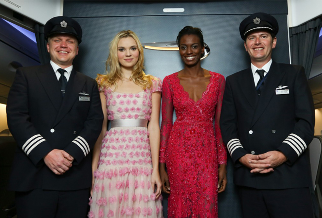 Harrods and British Airways team up for catwalk shows in the sky